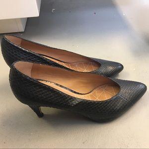Isabel Marant Python Textured Leather Pumps